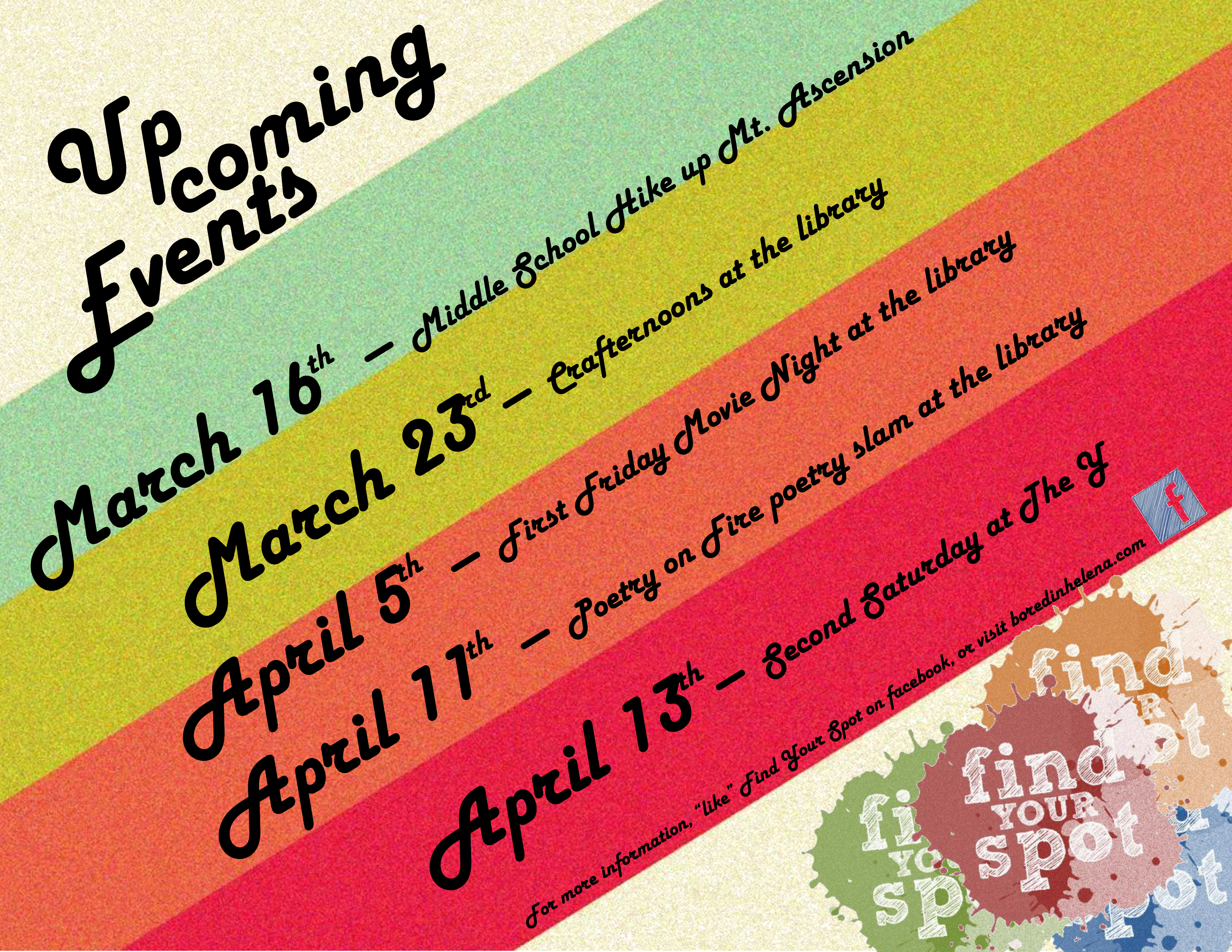 Find Your Spot Upcoming Activities